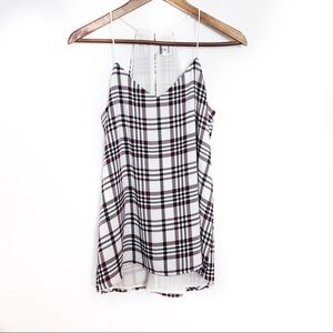Express Plaid Racerback Strappy Tank Top